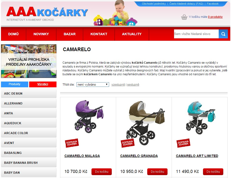 internetovy-obchod-aaakocarky-cz-www